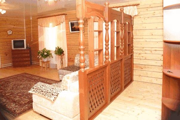 Деревянные перегородки в доме